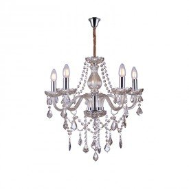 lustre pendente taschibra glam 5 conhaque e14 bivolt 1