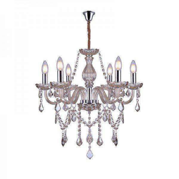 lustre pendente taschibra glam 6 conhaque e14 bivolt 1