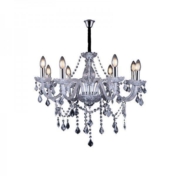 lustre pendente taschibra glam 8 transparente e14 bivolt 1