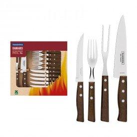 kit churrasco 14 pecas tramontina 22299011 madeira natural 1