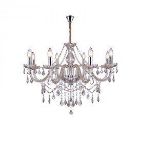 lustre pendente taschibra glam 8 conhaque e14 bivolt 1