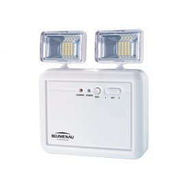 luminaria de emergencia bloco autonomo blumenau 2 farois 5w bivolt 1