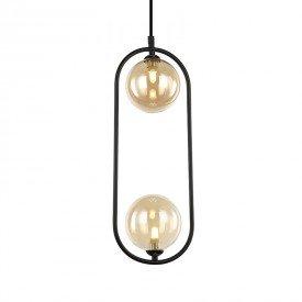 lustre pendente quality cadre 1334 g9 bivolt preto 1