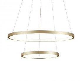 lustre pendente quality montreal 1301 led bivolt dourado 1