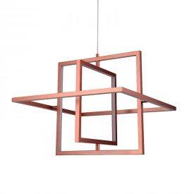 lustre pendente quality square led bivolt cobre 1