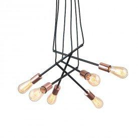 lustre pendente quality strap 1313 e27 bivolt cobre 1