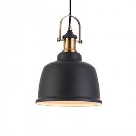 lustre pendente blumenau vintage soho preto e27 bivolt 1
