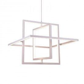 lustre pendente orluce quadra or1209 branco led bivolt 1