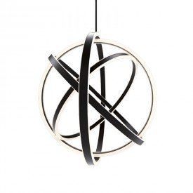 lustre pendente orluce ring or1208 preto led bivolt 1