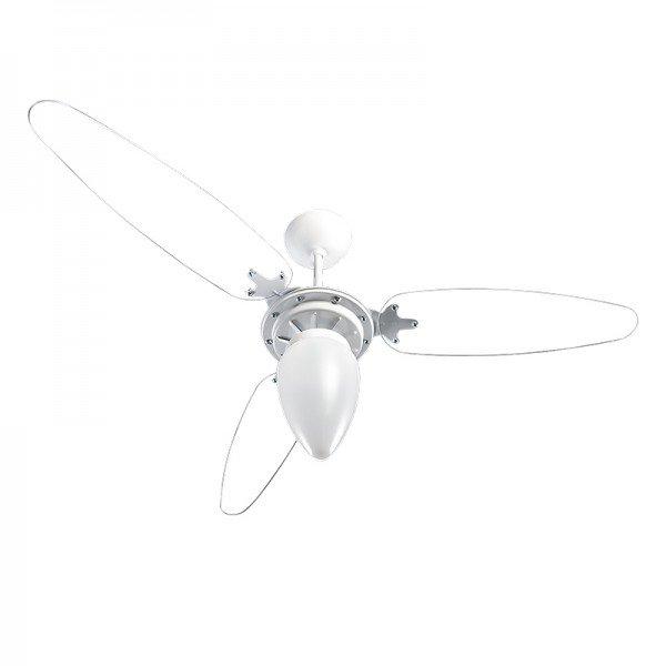 ventilador de teto ventisol wind 3 pas branco transparente 1