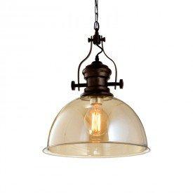 lustre pendente orluce fabb glass or1235 ambar e27 bivolt 1