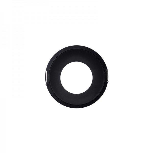 spot de embutir recuado para 1 lampada mr16 redondo preto 1