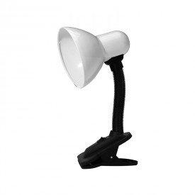 luminaria taschibra tlm 05 com garra bivolt e27 branco