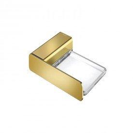 saboneteira docol flat 1013843 ouro polido 1