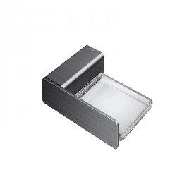 saboneteira docol flat 1013870 grafite escovado 1