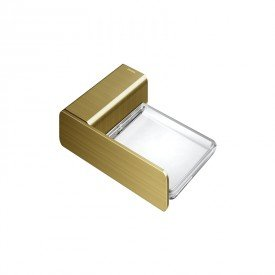 saboneteira docol flat 1013872 ouro escovado 1