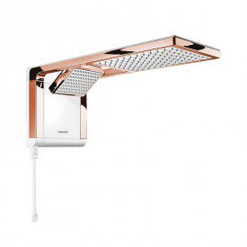 chuveiro lorenzetti acqua duo ultra eletronico branco rose gold 1