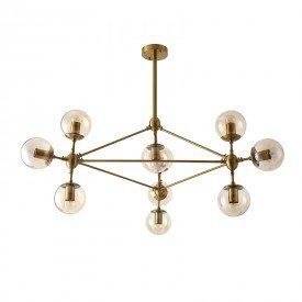 lustre pendente nordecor jabuticaba 2070 bronze e27 bivolt 1