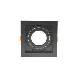 spot de embutir recuado nordecor flea para 1 lampada par 20 quadrado preto 1
