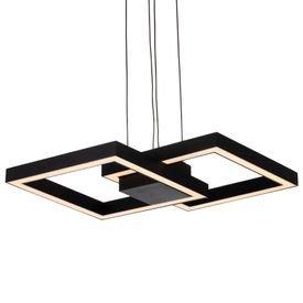 lustre pendente newline fit led 705 bivolt preto 1