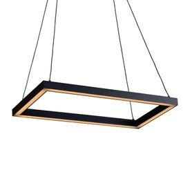 lustre pendente newline fit led 743 bivolt preto 1