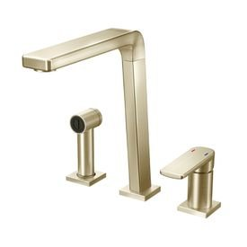 torneira misturador monocomando docol bistro 647344 com ducha manual de bancada niquel escovado 1