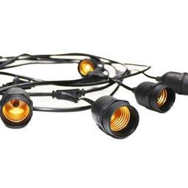 cordao de luzes taschibra cipro para 8 lampadas e27 preto bivolt 1